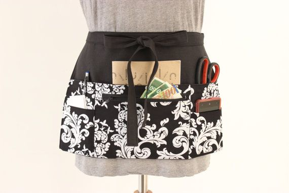 Vendor apron Waitress apron Teacher Apron half by TraceyLipman