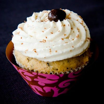 "Alcoholic ""whipped cream"" frosting for boozy cupcakes:  2 C heavy whipping cream 2/3 C sugar 2 T homemade Baileys Irish Cream"