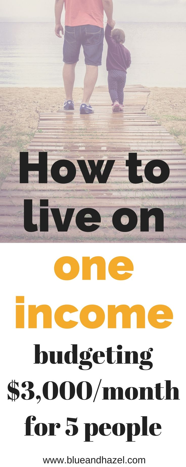 One family one income 5 people. Want to be a stay at home mom or simply live on one income and save the other? See what we buy, and don't buy with three kids. #oneincome #blueandhazel #livingonabudget #budget #sahm