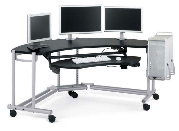 Furniture, Excellent Collections Of Computer Desk Design Inspirations:  Modern Minimalist Corner Computer Desk Design