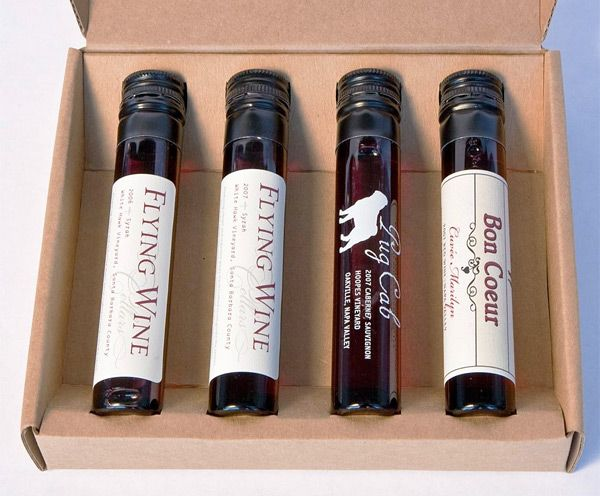 Wine tasting by mail?  Sample tubes.... Who would ever have thought of this