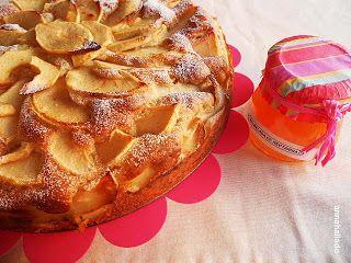 Canela en Rama: Tarta de manzana y mermelada de nectarina