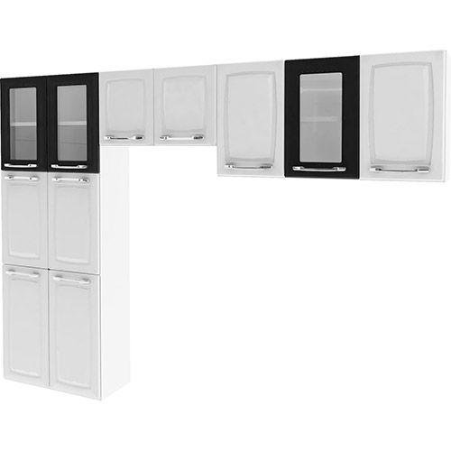 Cozinha Compacta Itatiaia Criativa 3 Peças: Paneleiro, Armário Aéreo e Armário Geladeira