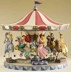 Carousel  | disney princesses carousel figurines set jim shore new release open