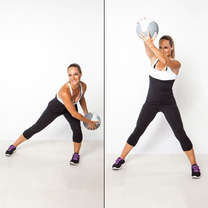 Tone your arms, legs, & core with the figure-8 scoop