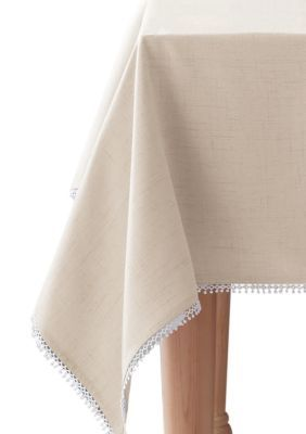 Lenox  French Perle Natural Tablecloth 60-In. X 120-In. - White - 60 X 120