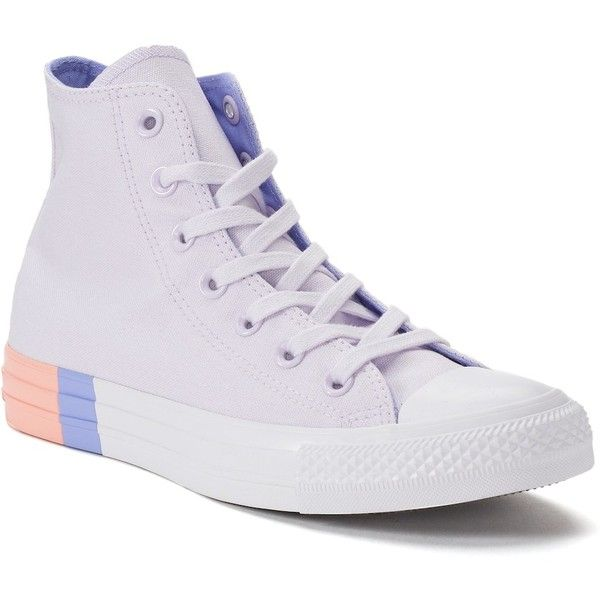 Women's Converse Chuck Taylor All Star High Top Sneakers ($65) ❤ liked on Polyvore featuring shoes, sneakers, purple, lace up sneakers, lace up shoes, high top shoes, purple shoes and laced up shoes