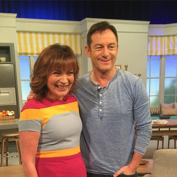 Jason Isaacs appearing on the Lorraine Kelly show on ITV Thursday 4th February 2016