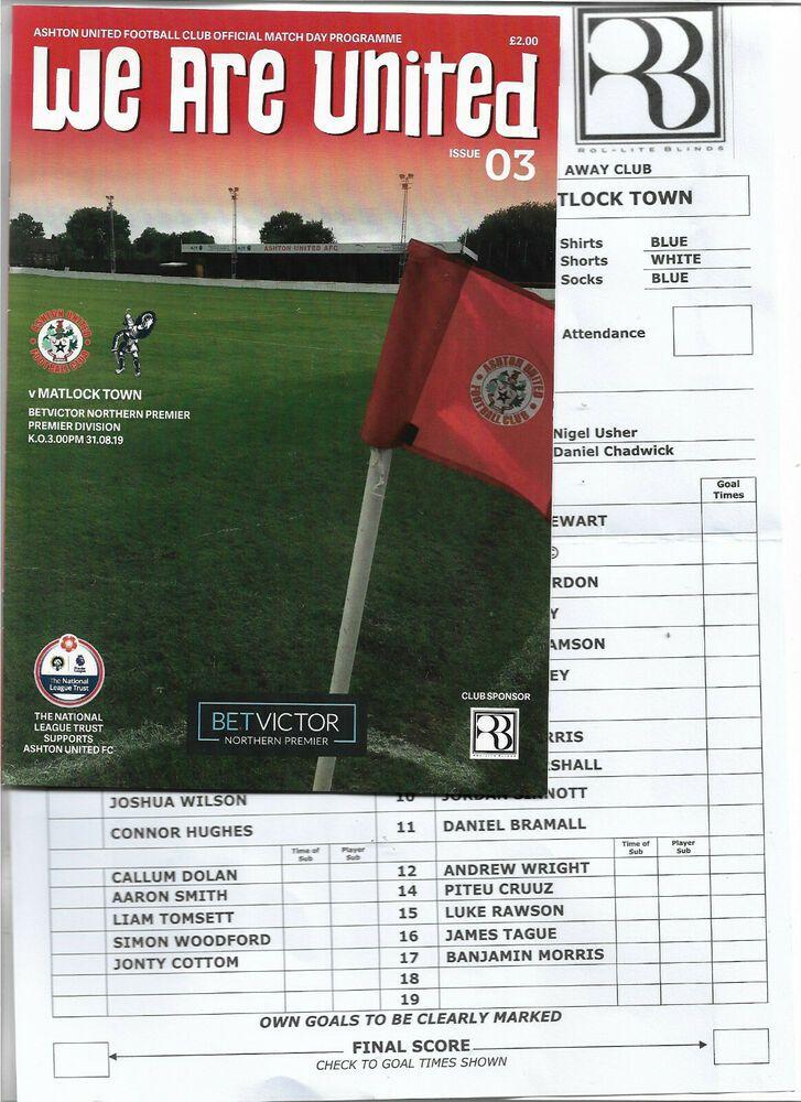 Ashton United Vs Matlock Town Northern Premier League 31st August