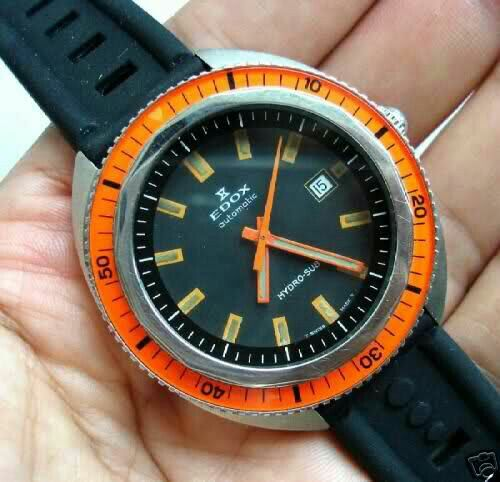 Previous EDOX Hydro-Sub 1965 is a sought-after collectors' piece