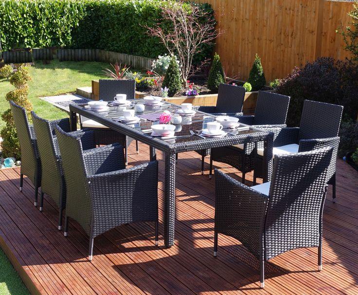 Garden Furniture Uk Rattan 27 best black rattan garden furniture sets images on pinterest
