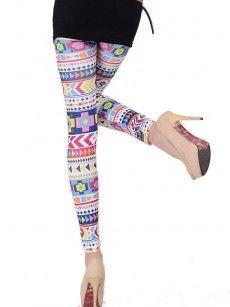 Colorful Geometric Stretch Legging