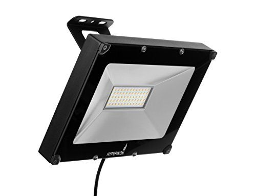 Hyperikon LED Flood Light 50W (250W Equivalent) 4000 Lumen 5000K (Crystal White Glow) Waterproof IP65 120-277v Instant On UL-Listed