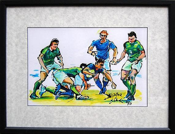 Rugby League Rugby Six Nations Rugby Players Rugby Art Rugby Gift Rugby Team Rugby Poster Original Painting Sports Lover Gift Rugby Art Rugby Gifts Art