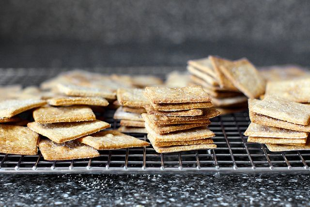 homemade wheat thins- try with Red Fife wheat