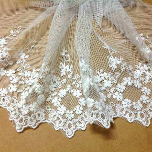 new vintage net fabric cotton mesh embroidery lace 18cm(China (Mainland))