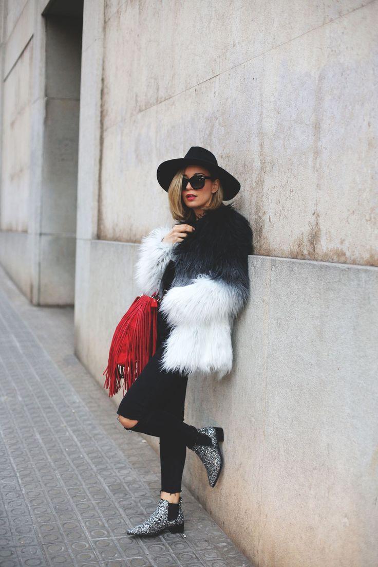 abrigo de pelos que visten las bloggers