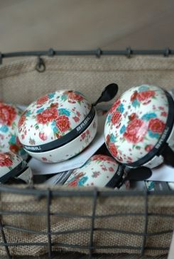 Spring fresh -- floral bicycle bells by Basil.