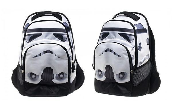 Show off your love of Star Wars with the Officially Licensed Star Wars Stormtrooper Backpack. Features interior laptop pouch with soft cushioning and comfortable netted back.