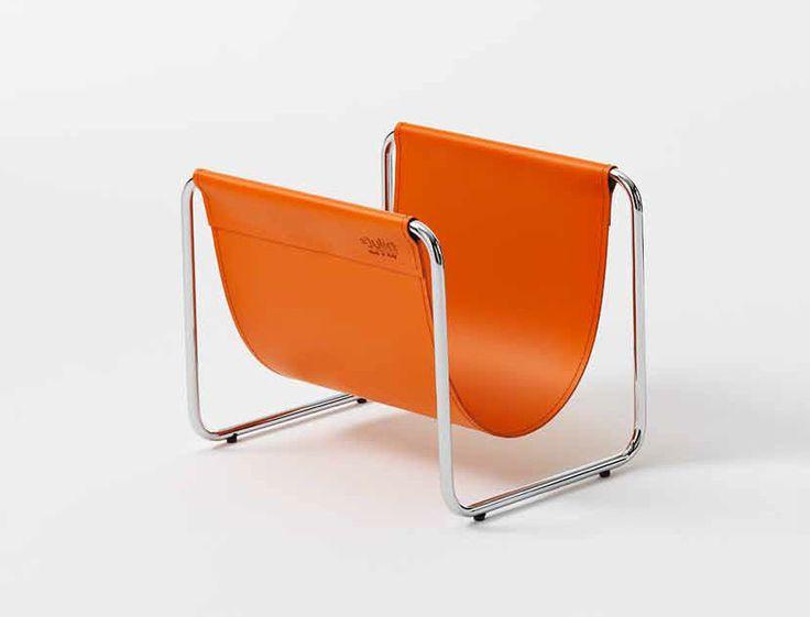 Contemporary Magazine Rack / Steel / Leather / Residential UGO Julia Awesome Ideas