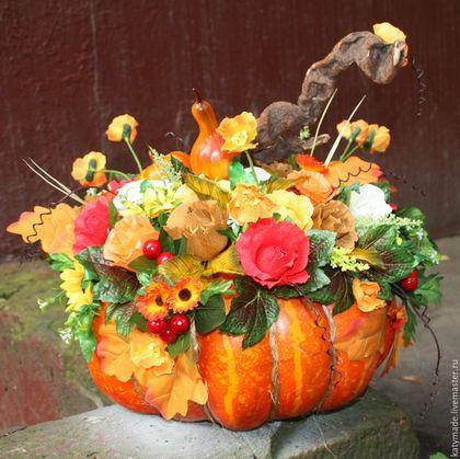 Купить или заказать Тыква........букет из конфет в интернет-магазине на Ярмарке Мастеров. Тыква сладкая, шоколадная, вкусная! Прекрасный осенний экземпляр, великолепна будет, как подарок на осенний день рождения, украшение осеннего интерьера, на празднование Хэллоуина. В оформлении использованы пенька, коряга, искусственные цветы и листья. В отличии от натуральной тыквы, эта очень легкая (из пенопласта) и перевезти ее не проблема ))) Также, в отличии от натуральной, эта подружка будет…