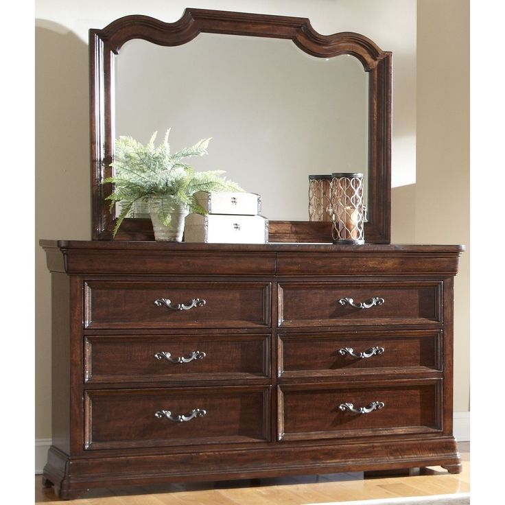 Senator 8-drawer Dark Brown Dresser and Optional Mirror by Greyson Living (Dresser and Mirror)