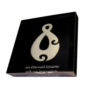 An Eternal Union with New Beginnings - NZ Art printed directly onto the back of a 90mm x 90mm x 20mm acrylic art photo block, from Chelsea DesignNZ.