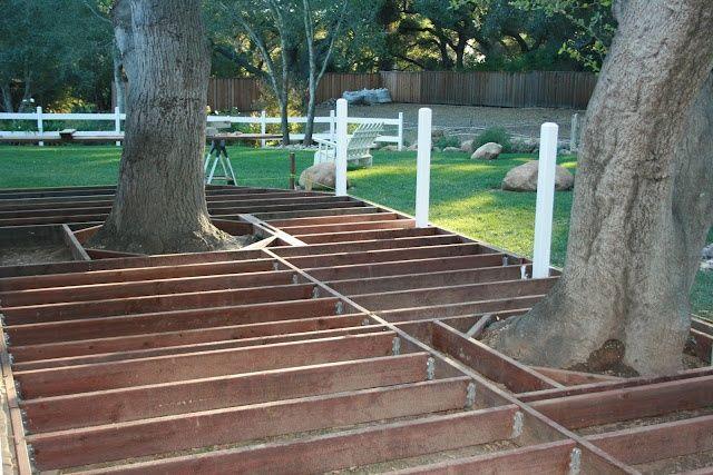 Building deck around trees