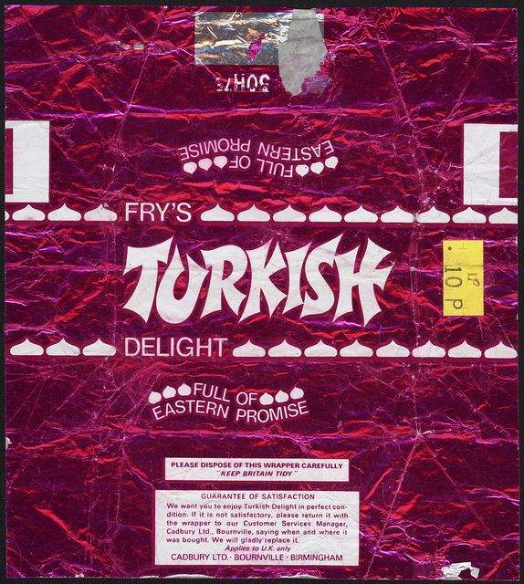 UK Cadbury Fry's Turkish Delight 10p candy bar