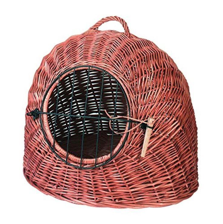 Korbhöhle aus Weide, 50 cm Tragetasche Hund Katze Handtasche Transporti #Kerbl