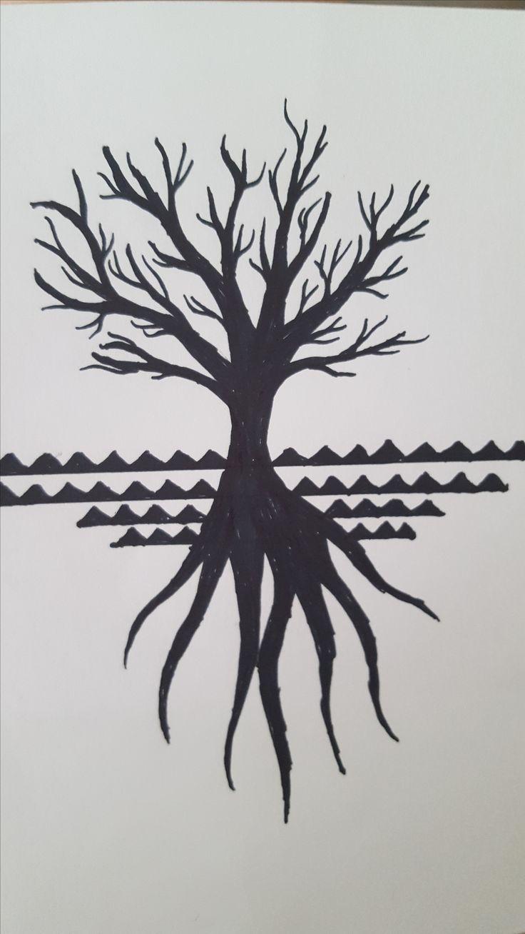 Black Marker on Paper.