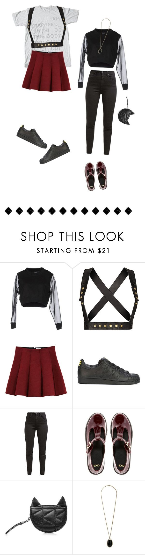 """baby you're so classic"" by weirdestgirlever ❤ liked on Polyvore featuring Cheap Monday, Zana Bayne, Outstanding Ordinary, adidas Originals, Levi's, ASOS, Karl Lagerfeld and Wallis"