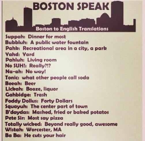 Boston Speak...Boston to English Translation #bostonusa