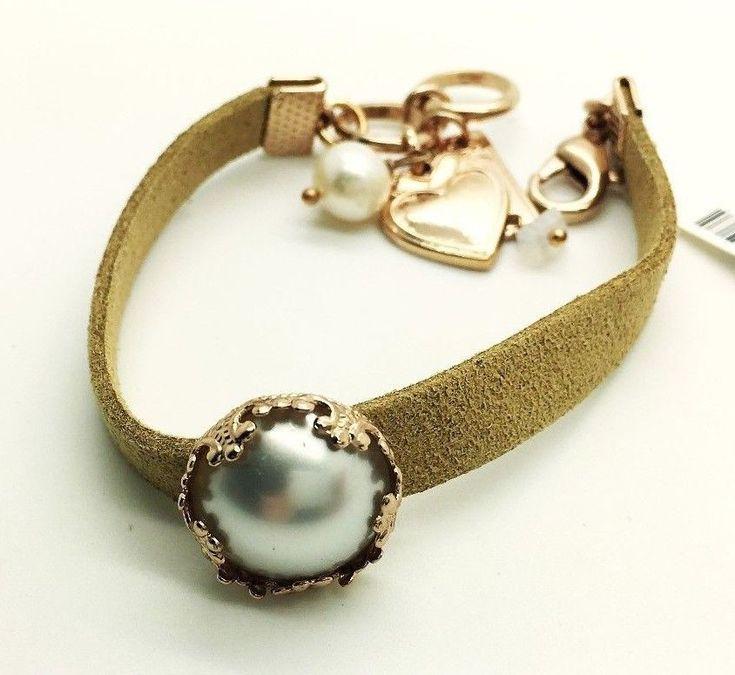 Mariana Jewelry Bracelet  Pearl  Leather woman Bangle Charm Fashion  #Mariana #Bangle