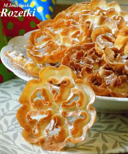 Domowa Cukierenka - Domowa Kuchnia: rozetki- ciasteczka smażone w głębokim tłuszczu