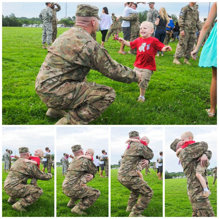 3 year old Brian Darby Jr. runs into his father's arms, Sgt. Brian Darby, for the first time after his father returned home from a nine month deployment in Afghanistan.