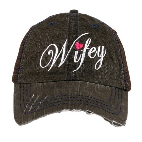 1e995025ca5db designed by Katydid trucker caps are embroidered and have curved bill  distressed cap gives it a worn look adjustable tab with mesh back cotton  and polyester ...