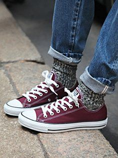 Converse~ one of the only true year round, cute and comfy shoes. cute paired with cozy socks