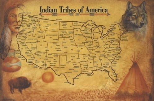 Antes de que los europeos se establecieron en Estados Unidos hay muchas diferentes tribus nativas americanas que ocuparon la tierra. Algunos de estos nativos eran nómadas y había muchos más que se quedaron en un área