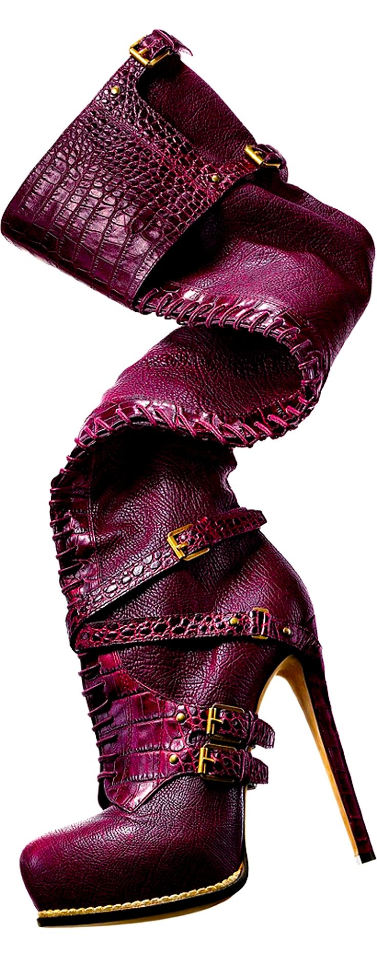 Purple boots by Christian Dior