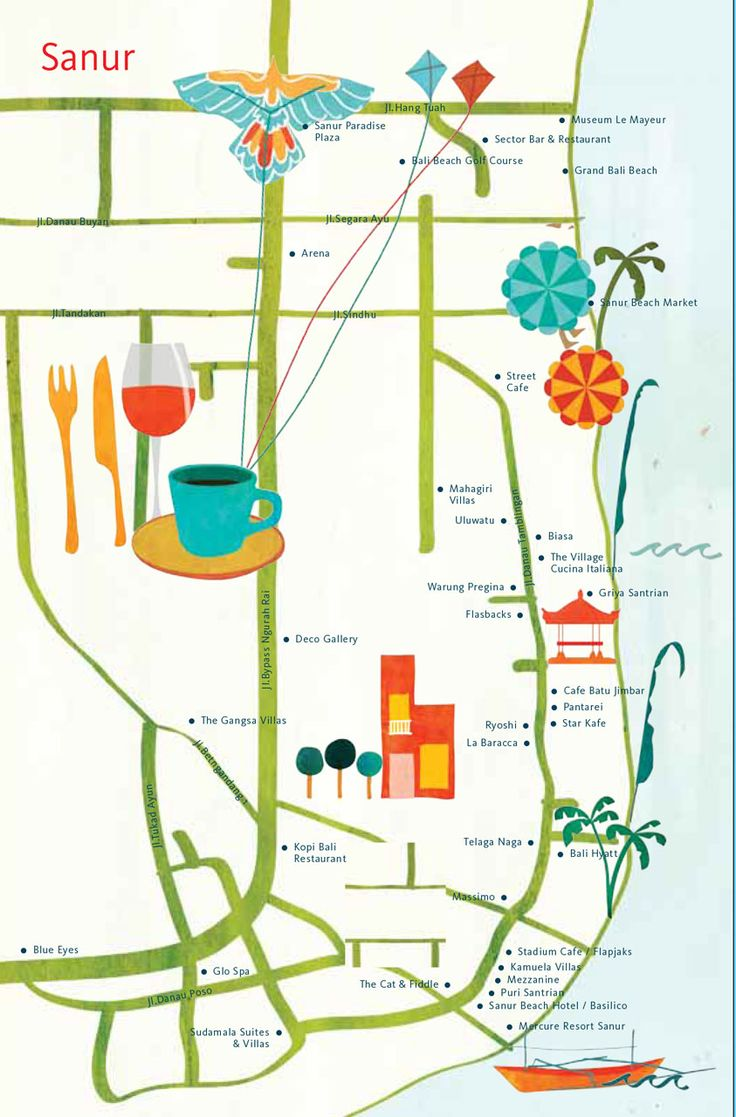 Astrid Prasetianti - Map of Sanur, Bali for hellobali magazine