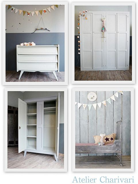 dresser.: Atelier Charivari, Old Furniture, Decor8, Bedroom Kids, Grey Wall, Kids Baby, Bedrooms Kids, Bedrooms Ideas, Kids Rooms