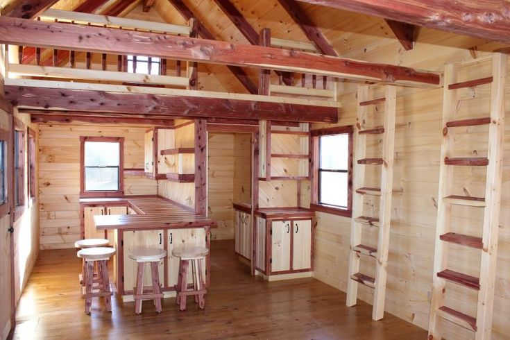 Trophy Amish Cabins Llc 12 X 32 Xtreme Lodge 648 S F