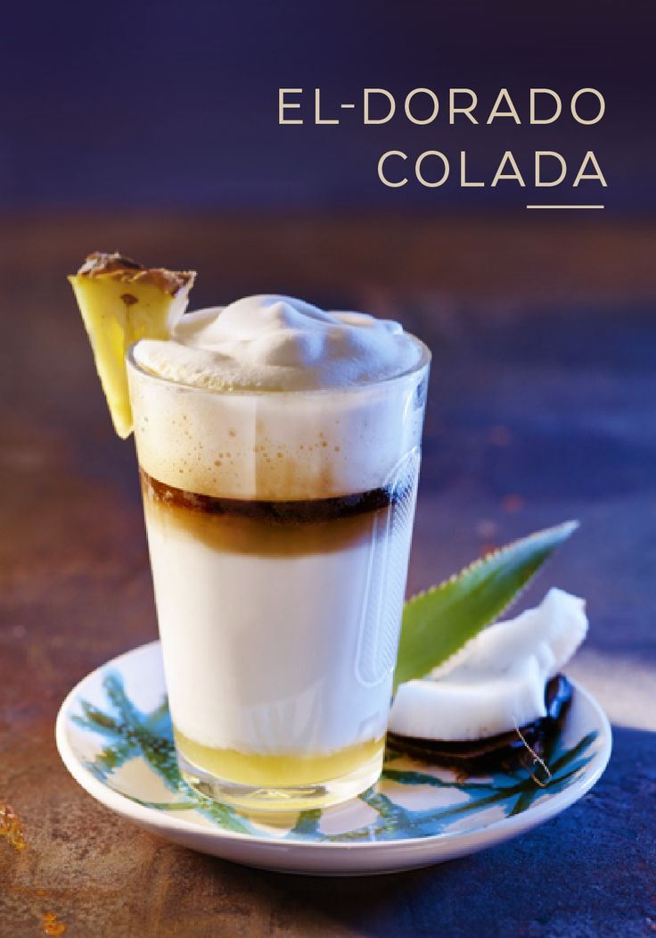 Just one sip of this El-Dorado Colada and you'll feel yourself being whisked away to a tropical paradise. The sweet tastes of Volluto Grand Cru, pineapple, and coconut come together to create a coffee drinking experience like no other. Whether you're in the comfort of your own home or relaxing on white sand beaches, this exotic coffee recipe can be enjoyed from anywhere in the world.