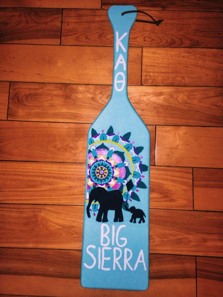 kappa alpha theta KAO elephant paddle mandala sorority big little paddle