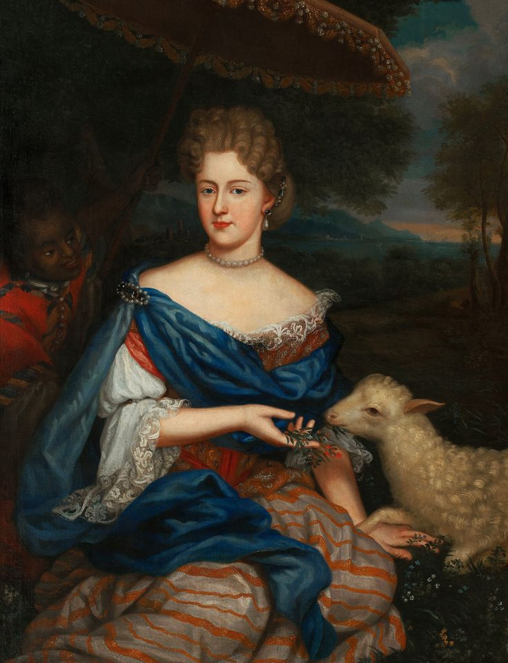 Portrait of Marie Charlotte Sobieska, Duchess of Bouillon by Anonymous from France, ca. 1730 (PD-art/old), Muzeum Pałacu Króla Jana III w Wilanowie