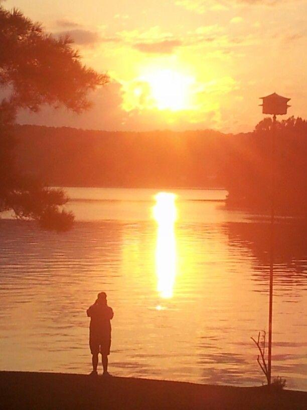 Beautiful sunrise on Logan Martin Lake.