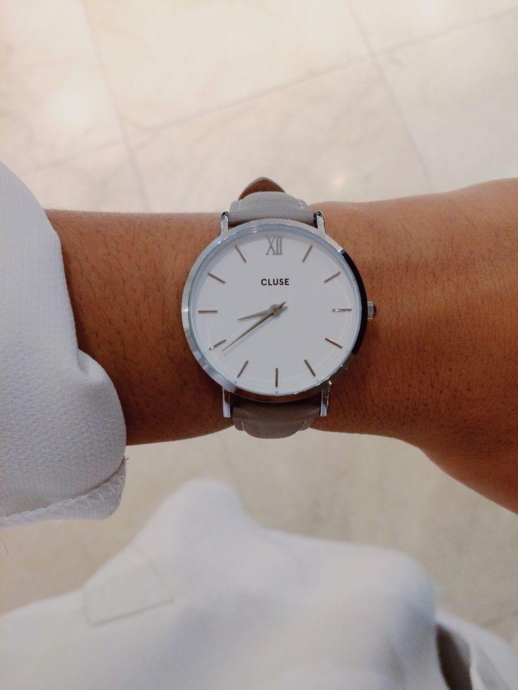 Cluse watch minuit silver white grey a pinterest for Schreibtisch 1 80 m