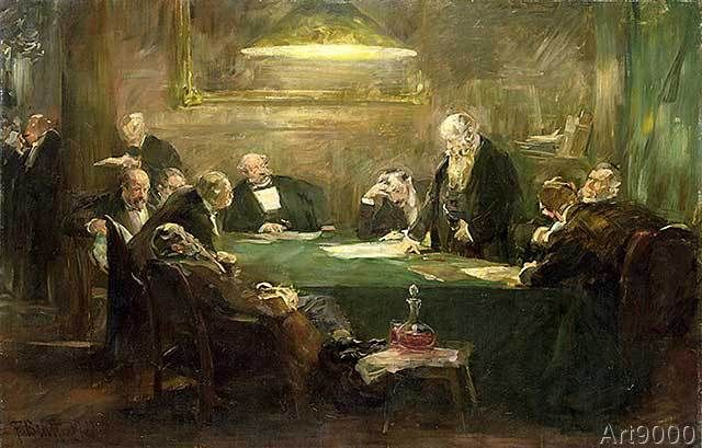 Ferdinand Brutt - The Meeting of the Board of Directors, 1900