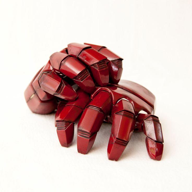 Iron Man Gloves/Gauntlets High Quality by DarkMatterProps on Etsy
